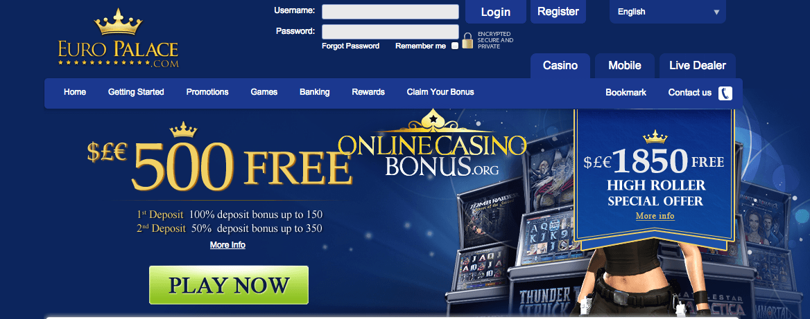 europalace casino promotion code