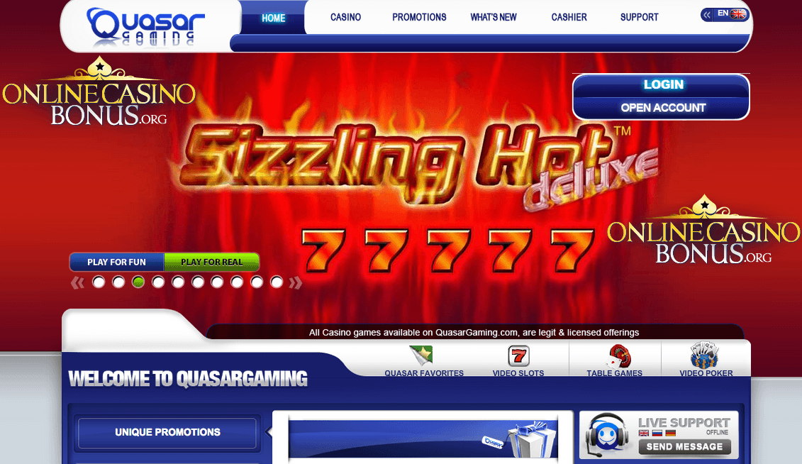 casino online bonus biggest quasar