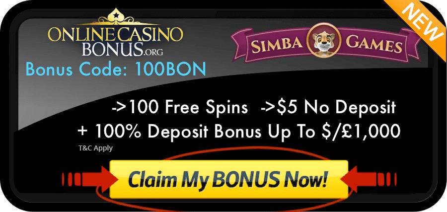 simba games bonus code