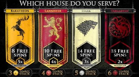 Free Spins Bonus Game of Thrones Slot