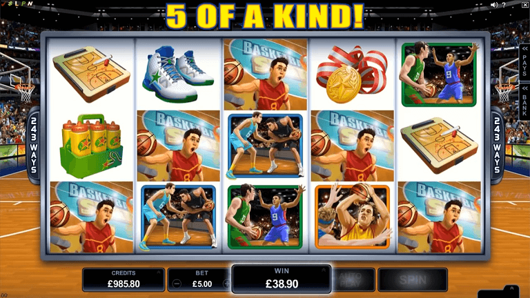 basketball star slot screenshot