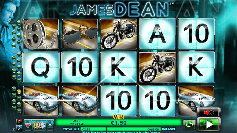 james dean slot screenshot