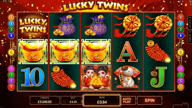 lucky twins slot screenshot