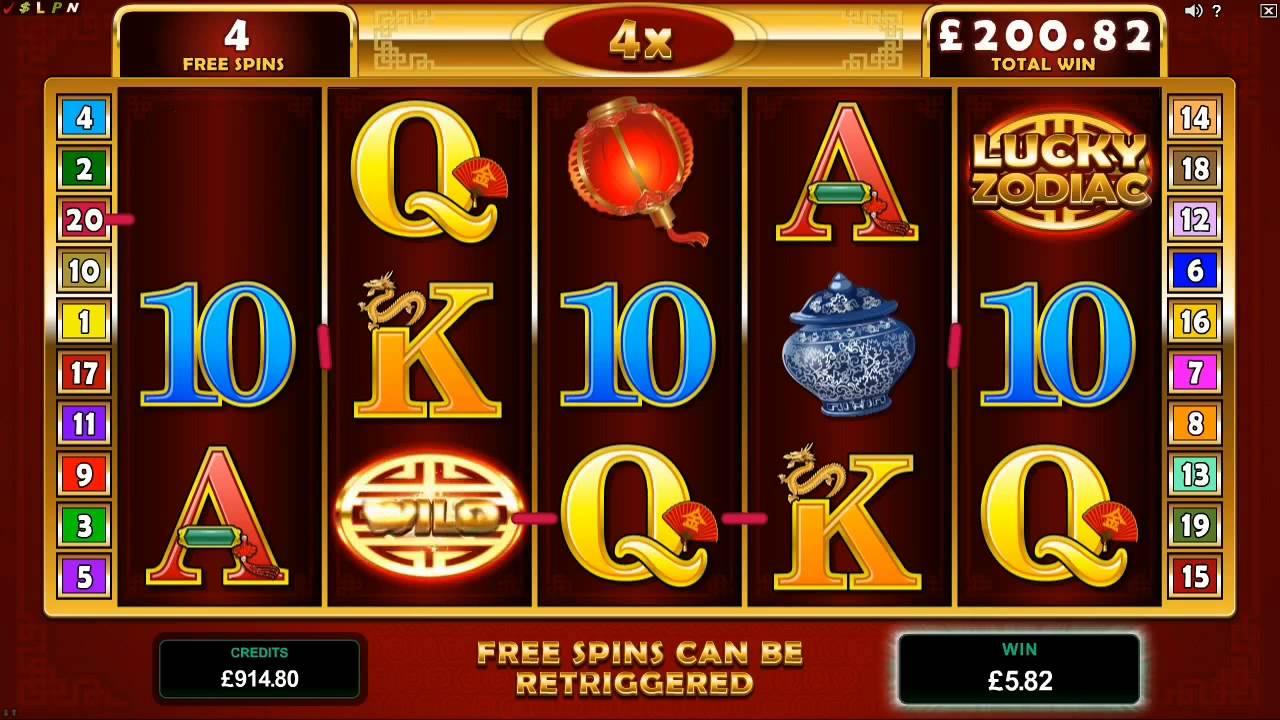 lucky zodiac slot machine