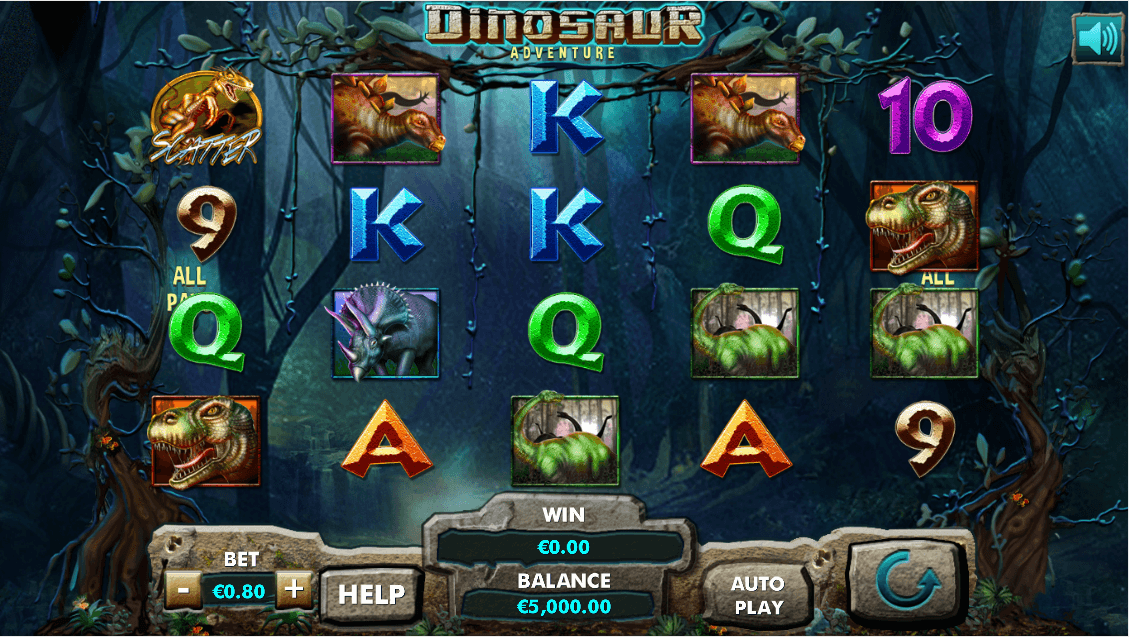 Dinosaur Adventure slot screenshot