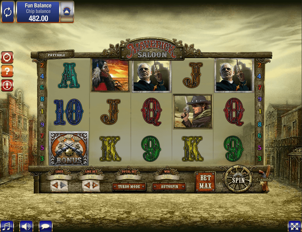 maverics saloon slot screenshot