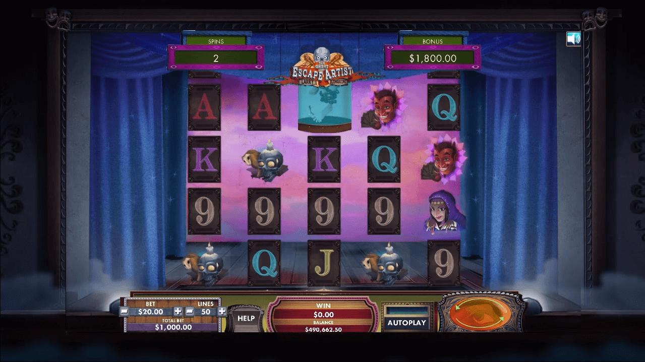 the-great-escape-artist-slot-screenshot