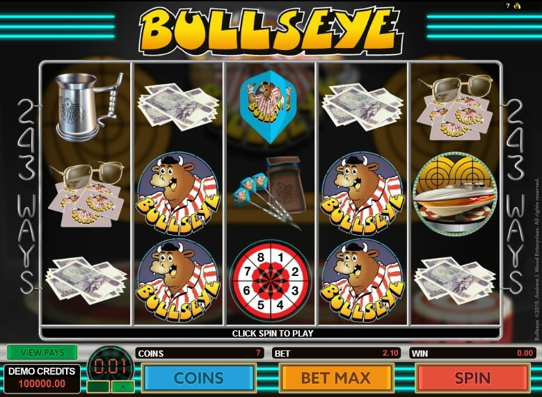 bullseye slot screenshot