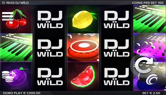 dj wild slot screenshot