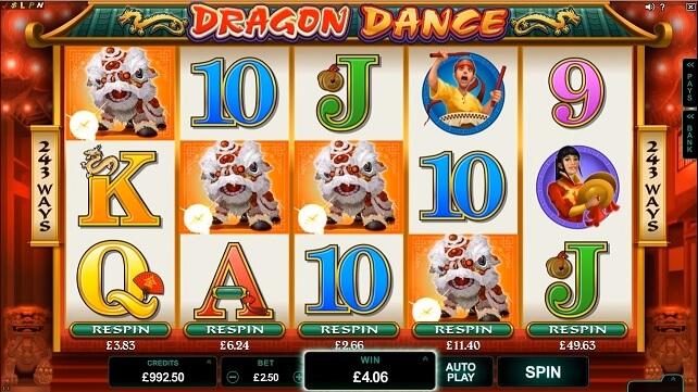 dragon dance slot screenshot