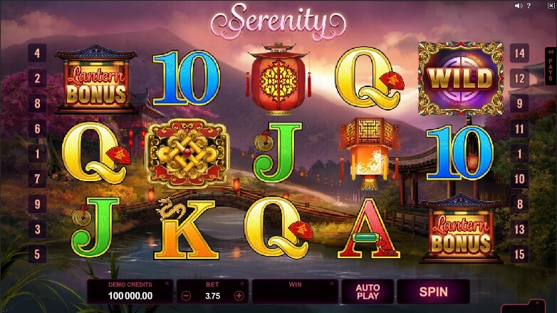 serenity slot screenshot