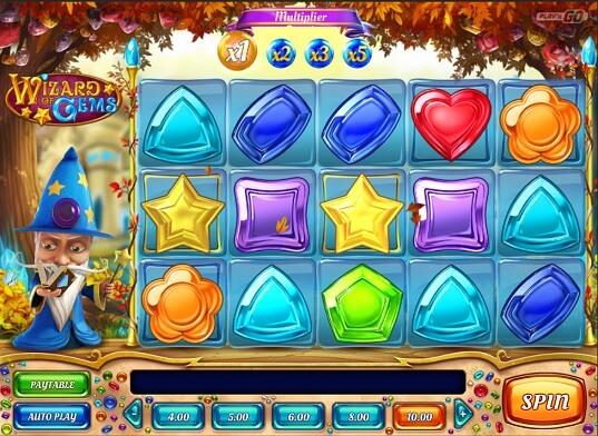 wizards of gems slot screenshot