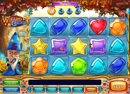 wizards of gems slot screenshot
