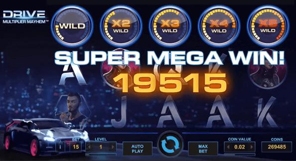 Drive multiplier mayhem slot screenshot