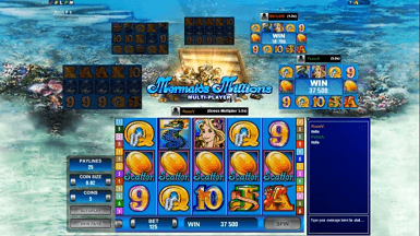 Multi-player Mermaids Millions screenshot