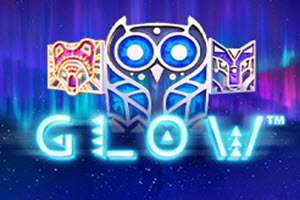 glow slot machine logo