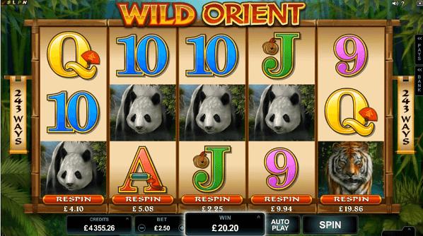 wild orient slot screenshot