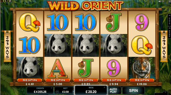 wild orient slot screenshot
