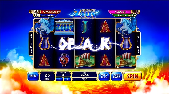 age of gods slot screen big