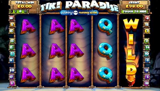 tiki paradise slot screenshot big