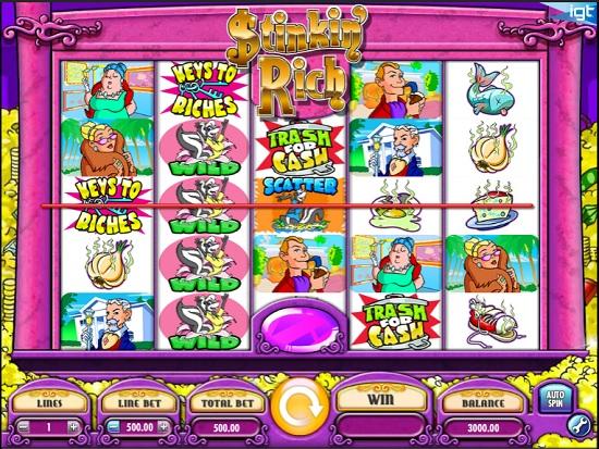 Stinkin Rich Slot screen big