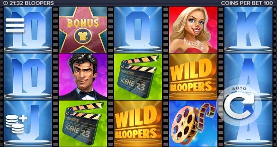 bloopers slot screen big