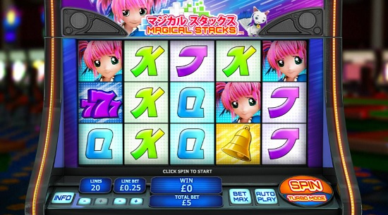 magical stacks slot screen big