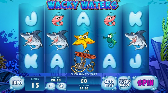 wacky waters slot screenshot big