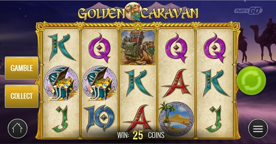 golden caravan slot big screen
