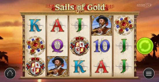 sails of gold slot screen big