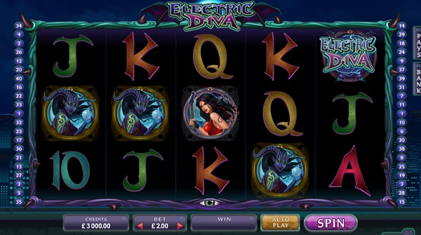 electric diva slot screenshot big