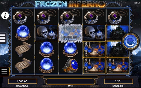 frozen inferno slot screenshot big