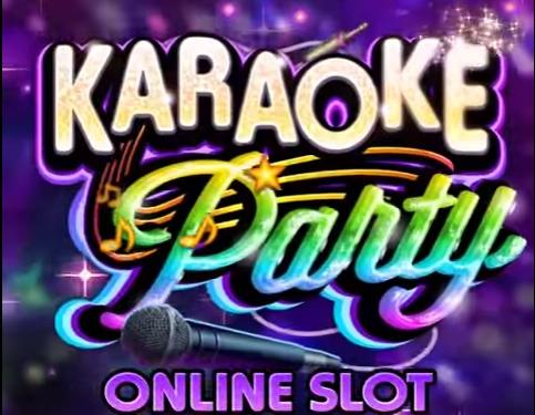 karaoke party online slot logo