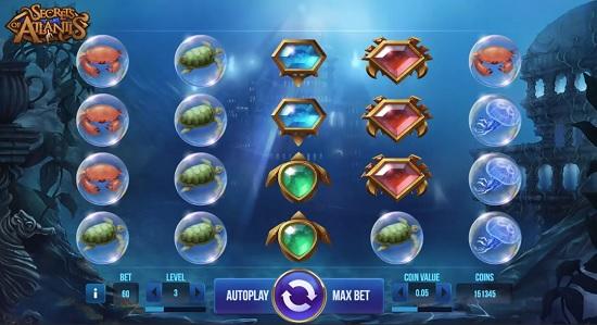 secrets of atlantis slot screenshot big