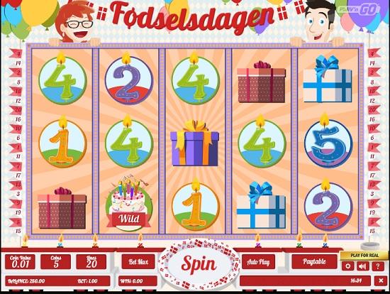 Fodselsdagen Slot Machine big screenshot
