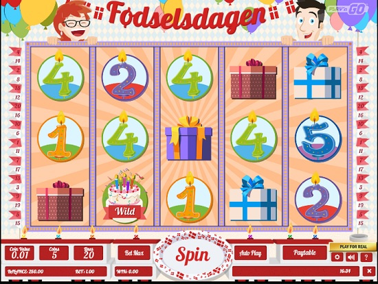 Fodselsdagen Slot Machine big screenshot