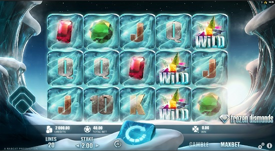 Frozen Diamonds Slot Screenshot big