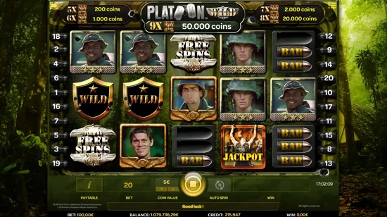 platoon wild slot screenshot big