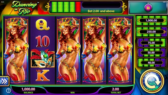 Dancing in Rio slot screenshot big