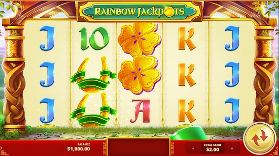 rainbow jackpots slot screenshot big