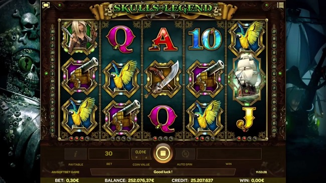 skull of legend slot screenshot big
