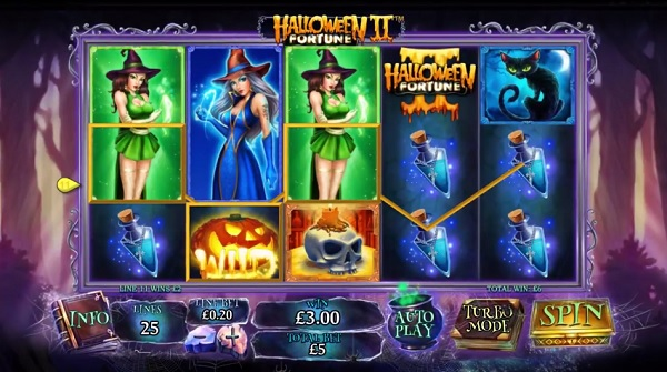 halloween fortune 2 slot screenshot