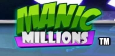 manic millions slot logo
