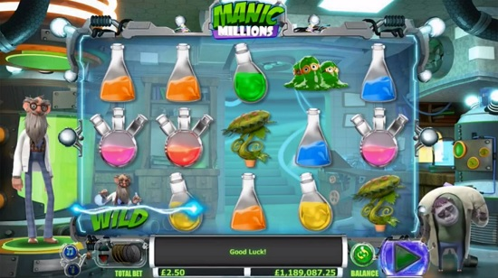 manic millions slot screenshot big
