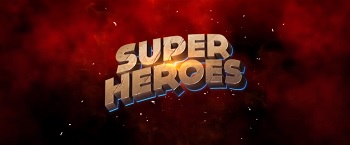 super heroes slot logo