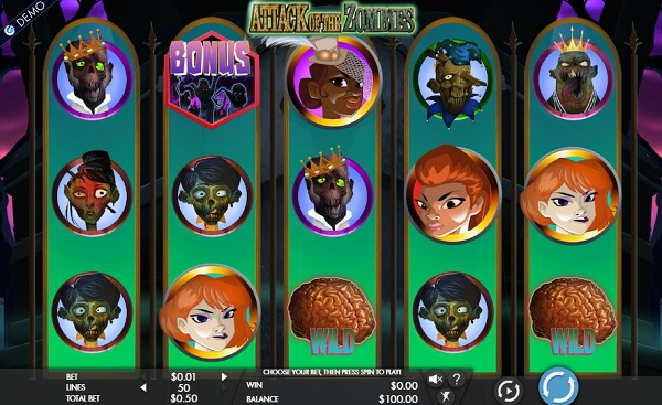 attack-of-the-zombies slot screenshot big