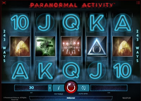 paranormal activity slot screenshot big