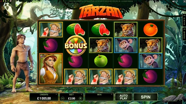 tarzan slot screenshot big