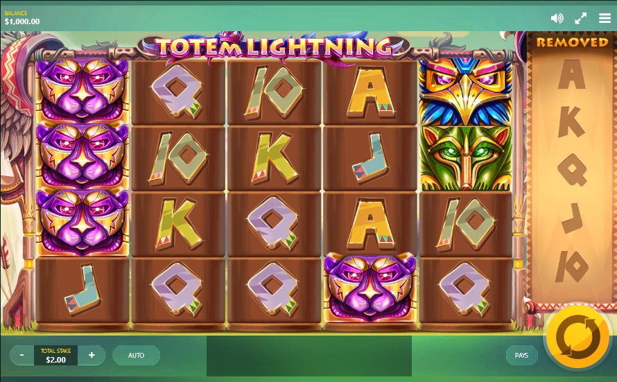 totem-lightning slot screenshot big
