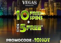 10 ND Free Spins at Vegas paradise
